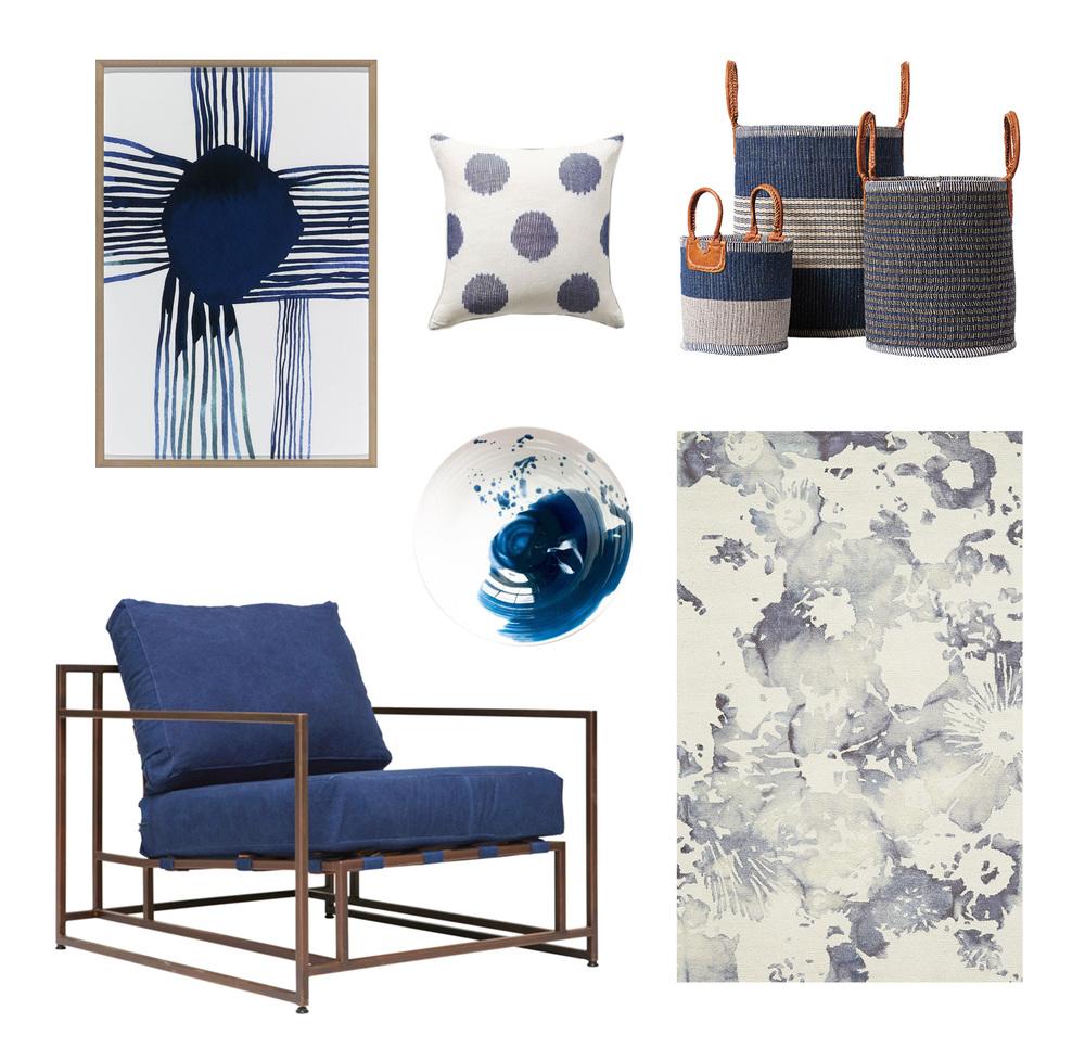 Art  //  Pillow  //  Baskets  //  Rug  //  Plate  //  Chair