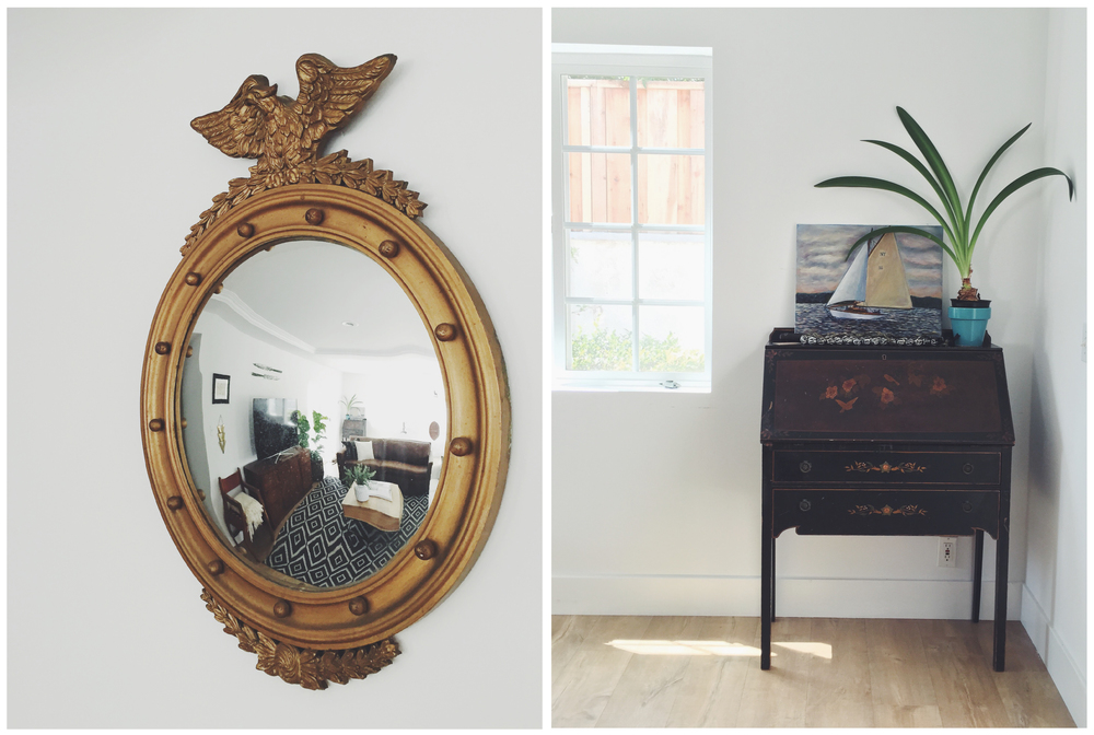 Mirror (Long Beach Flea Market circa 2010) // Secretary Desk (Craigslist) // Painting ( Andrew Pearson )