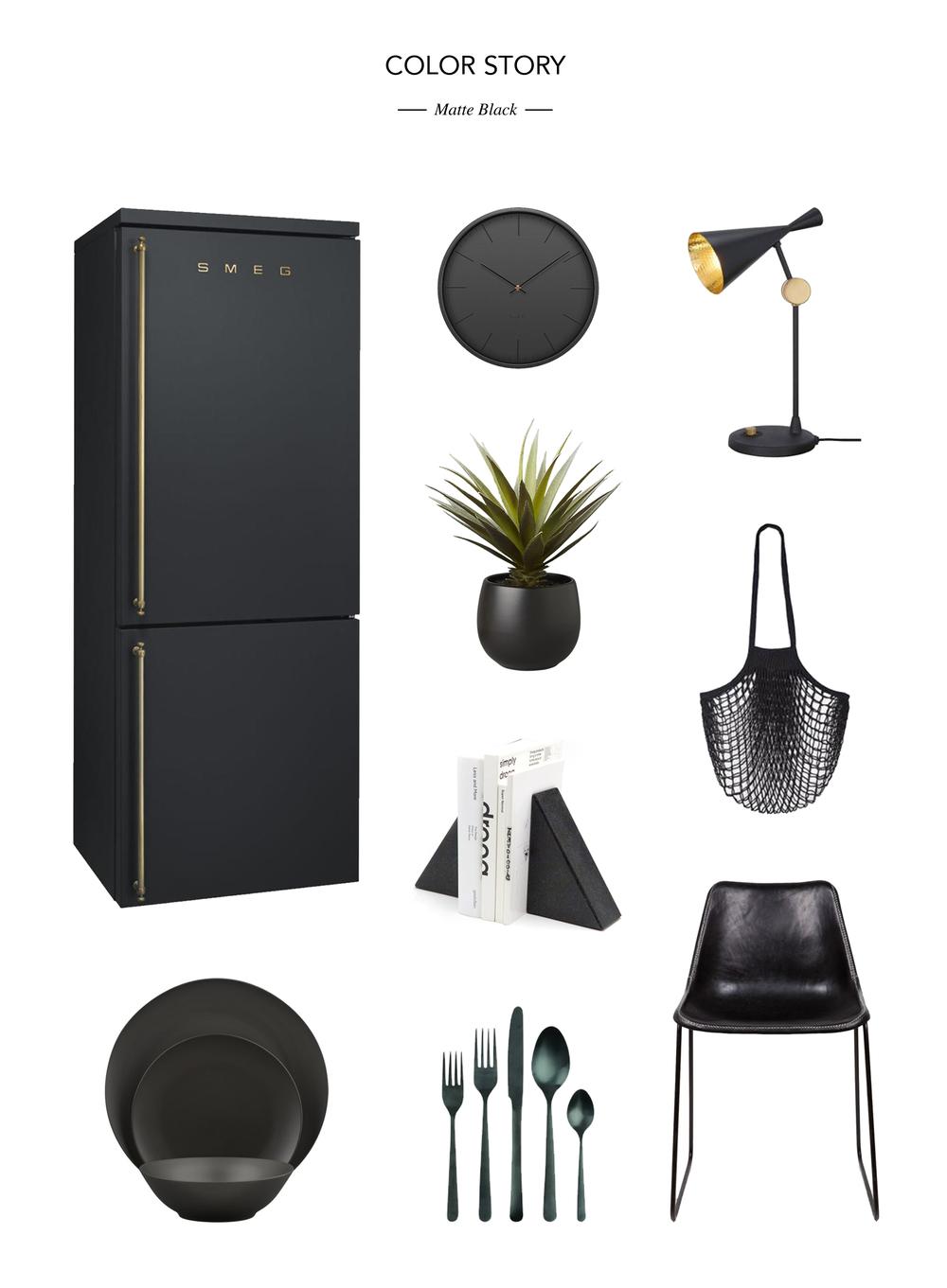 Fridge  //  Serveware  //  Clock  //  Planter  // Bookends  //  Cutlery  //  Lamp  //  Bag  //  Chair