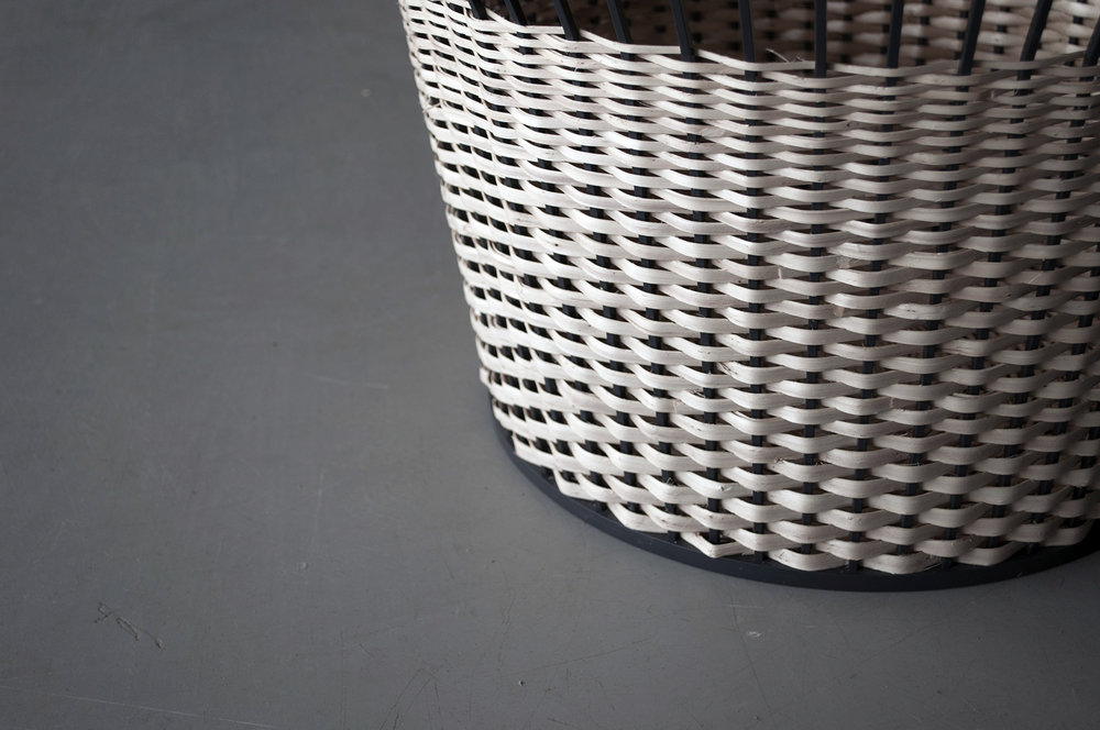 THE TECHNIQUE - Natural wicker varies in thickness, and therefore it lends itself to be used for different products and functions. The woven parts of the furniture emphasize the structure of the natural wicker. The gradient in thickness varies from 2cm, for 2 years old wicker, to only a few millimeters, for very young wicker. All plants have been harvested during a specific time in spring, therefore staying white and not becoming yellowish over time.