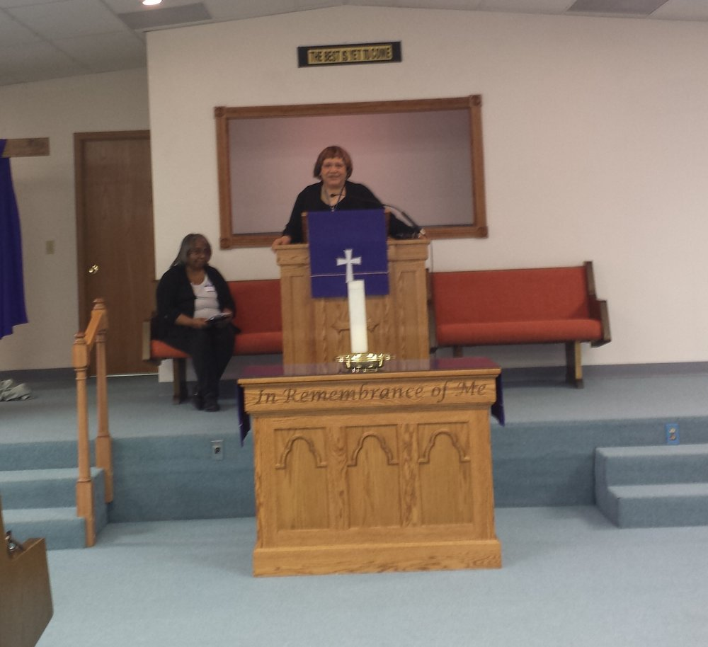 Welcome by host pastor Rev. Minnie Smith