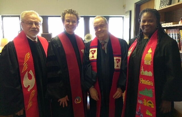 L to R: Rev. Charles Ackerson, Rev. Dr. Penny Ross-Corona, Rev. Michael Dixon, Rev. La'Vetta Ross-Hall.