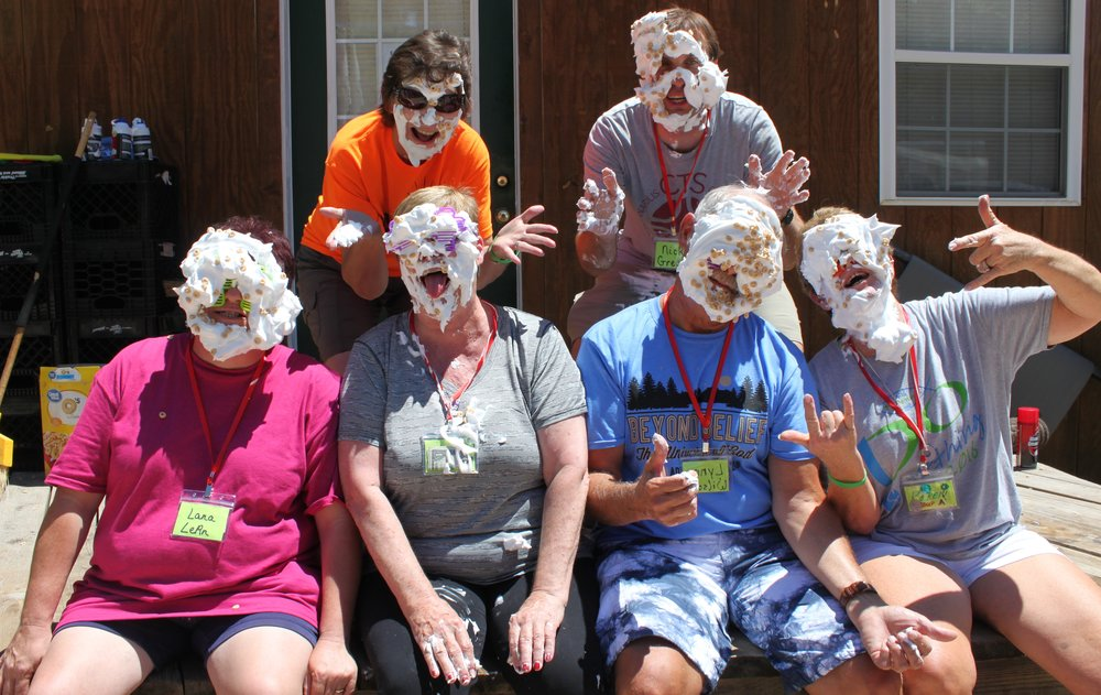 JYF Counselors chillin with shaving cream.JPG