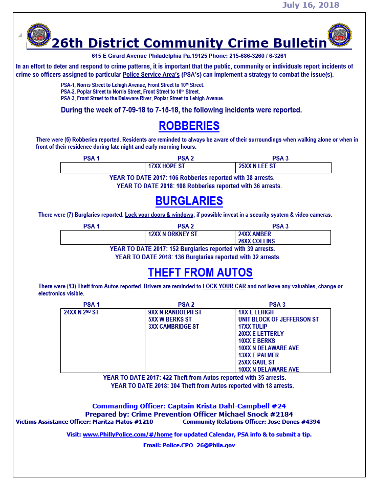 26th District Community Crime Bulletin 7-09-18 TO 7-15-18.PNG