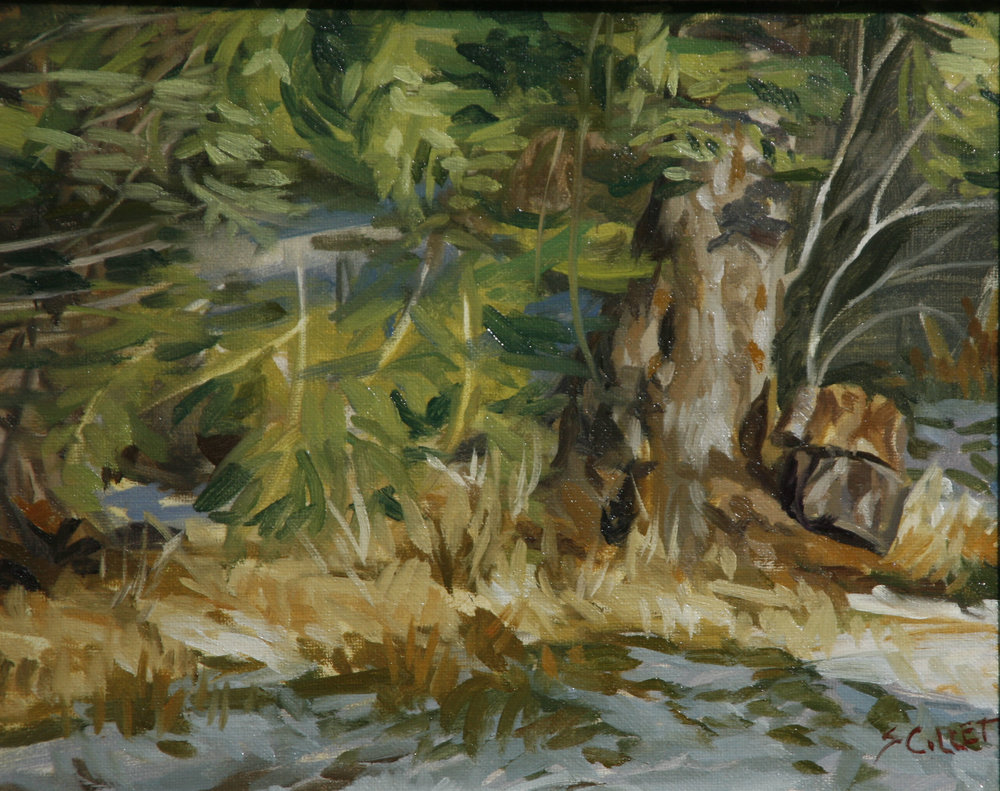"""WINTER STUDY""    oil     8""x10""     $500."