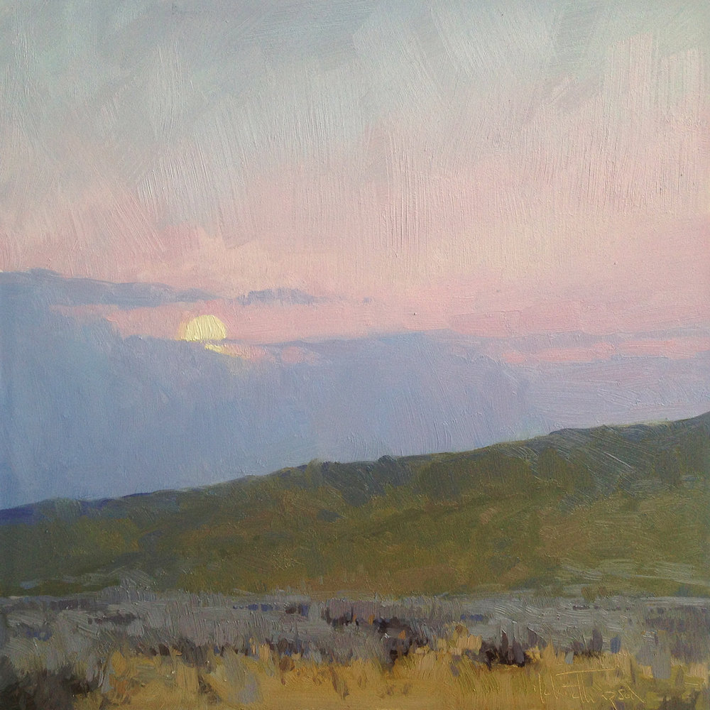 """MOONRISE""     oil      8""x8""      $500."