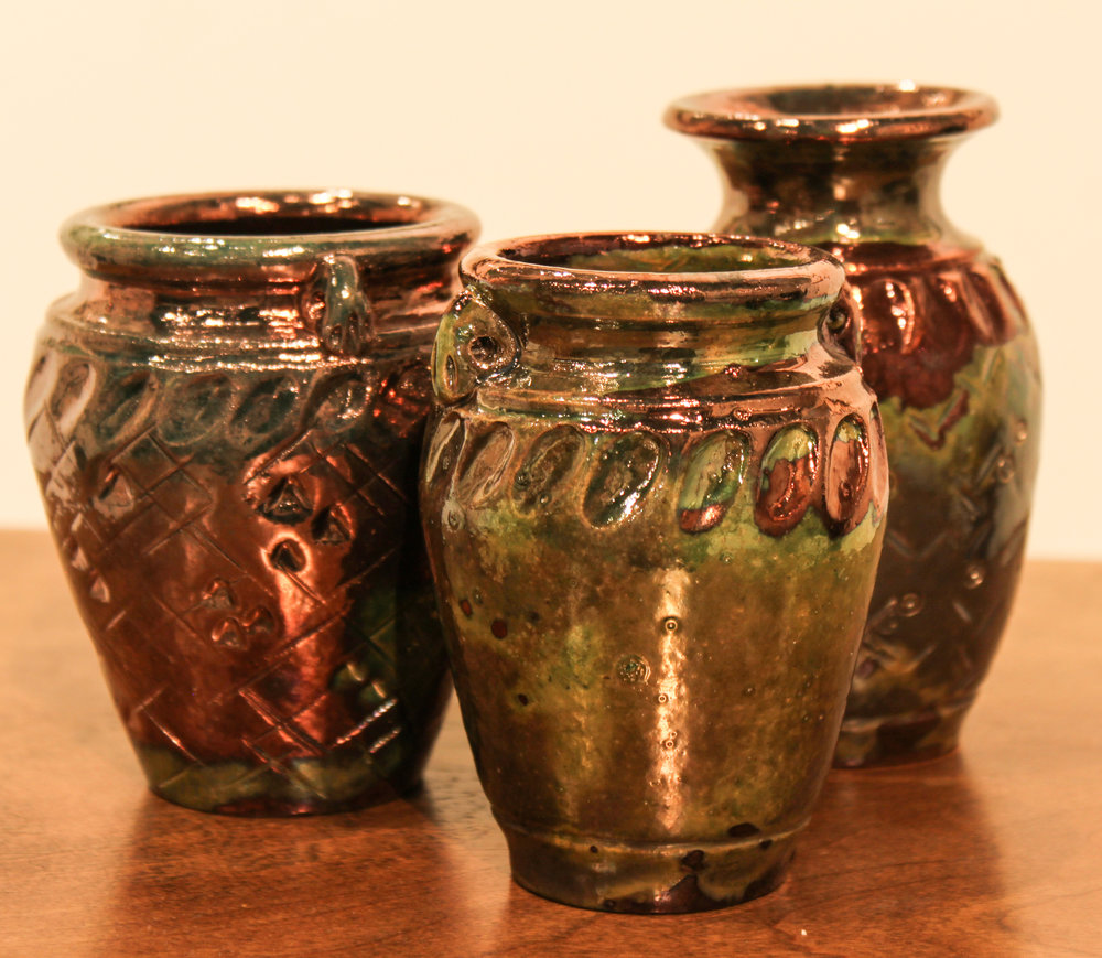 SMALL VASES    raku   $35. each
