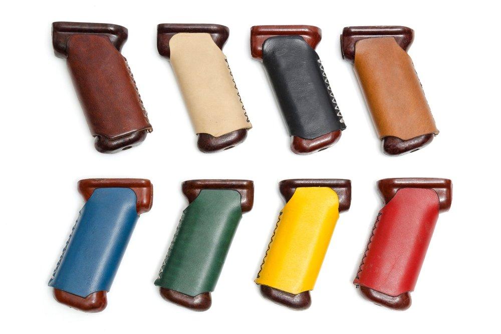 Leather Wrapped AK Bakelite Grips