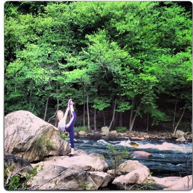 Jillian at Glen Onoko State Park. Photo by K. Stockwell via Ken's iPhone.