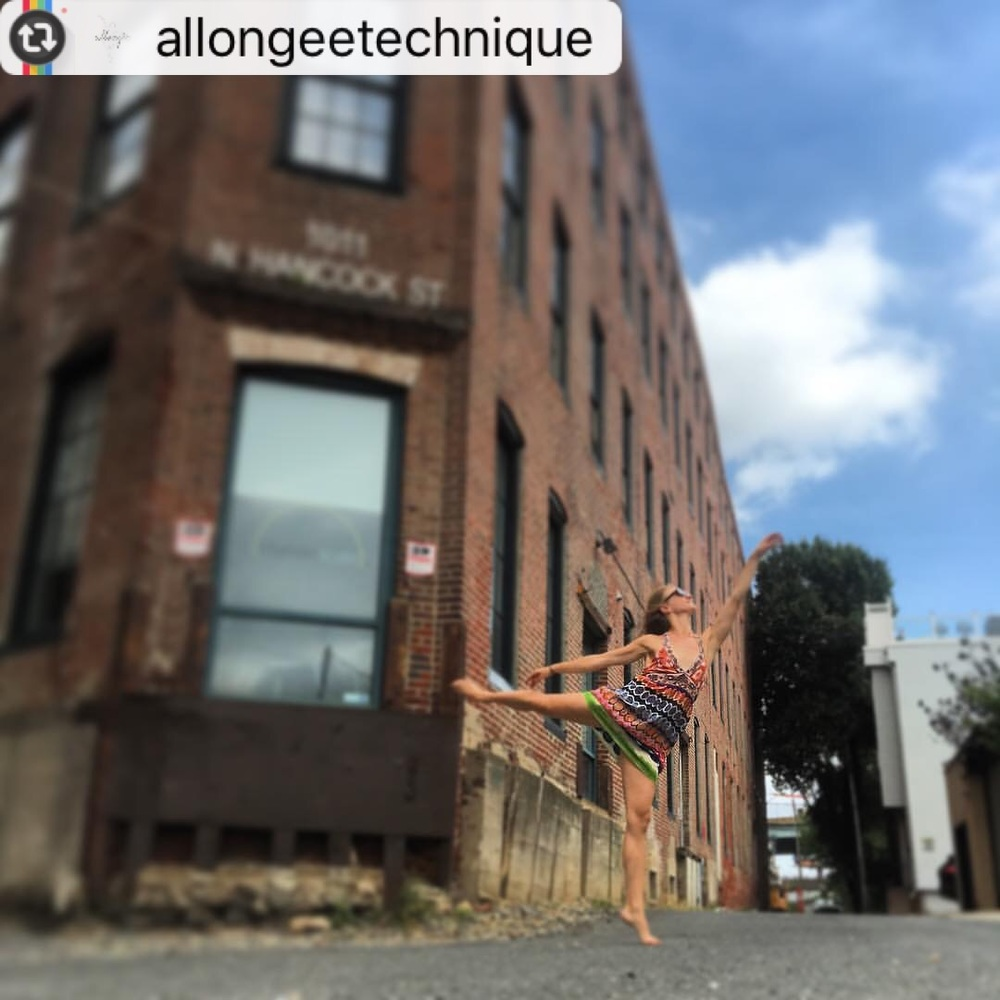 "from @allongeetechnique: #instagramchallenge Week 2: this week's tag is #myallongee , the personal benefits you feel the MOST as a result of your practice with us! Our first is from Jillian with all the feels on life choices and opportunities. ""When I first started this program 5 years ago, it was intended to help professional dancers enhance their training. My goal was to make a class that engages all of the muscles used in ballet while creating endurance with our cardiovascular work. I am reminded of #myallongee every time I step foot into the studio for a ballet class after a long break; it's like I never left! Allongee has enabled me to further my ballet training and become better and stronger with each allongee class I take!"""