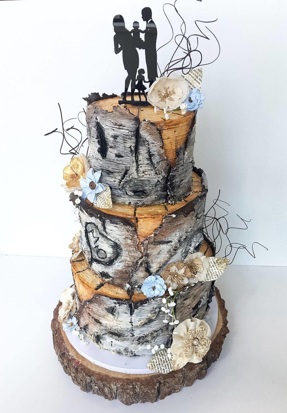 Customer Wedding Cakes Gallery — Crooked Tree Coffee and Cakes
