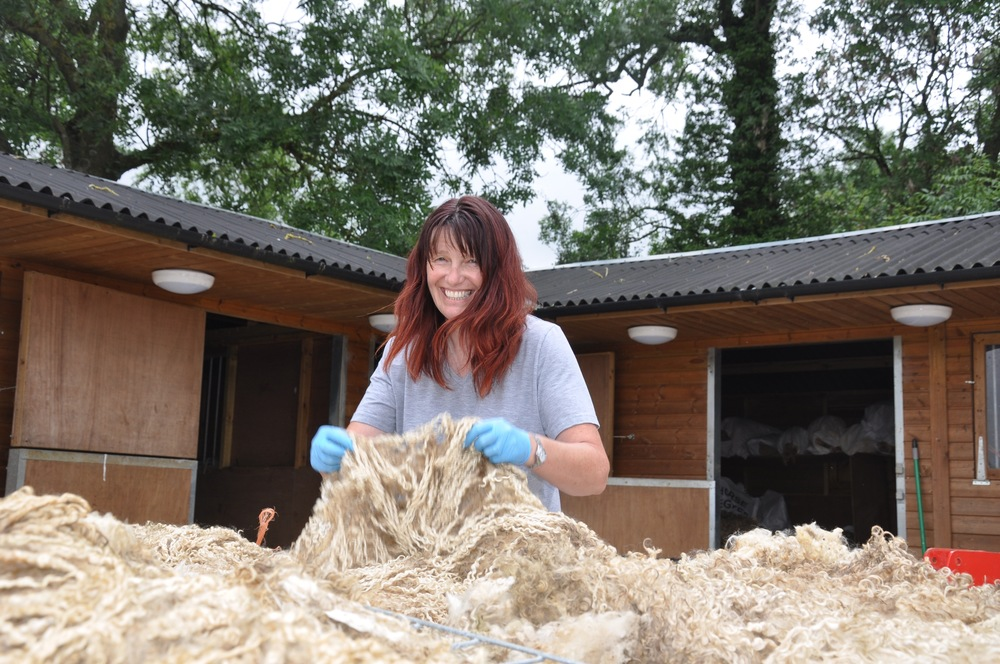 Sorting fleece :)
