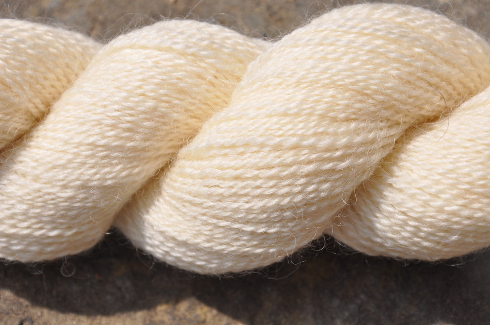 Natural 4 ply - 100%  genuine Wensleydale and Bluefaced Leicester