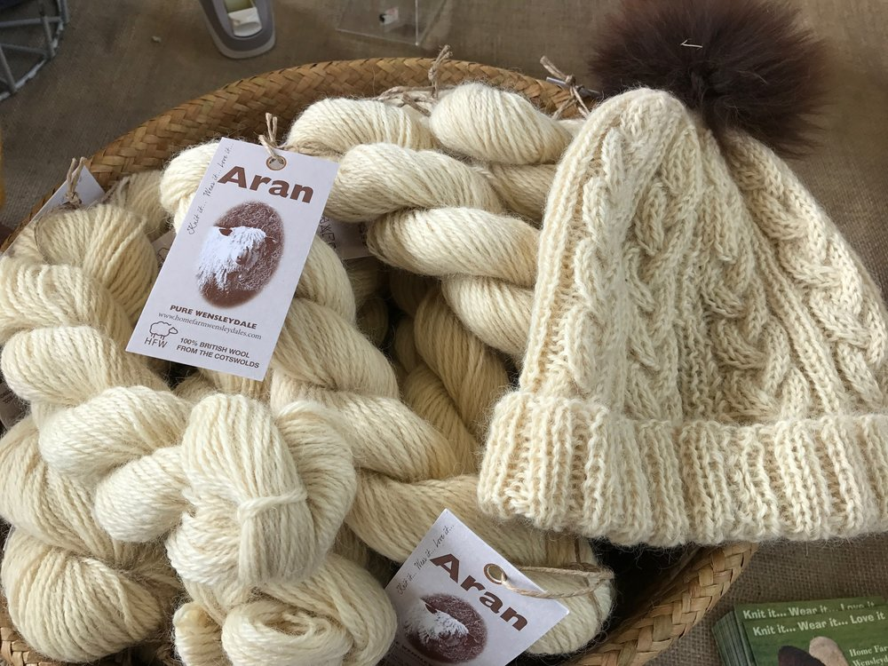 Beautifully worsted spun pure genuine Wensleydale aran in an amazing natural colour.