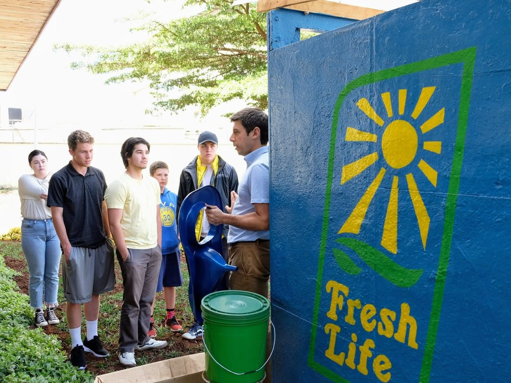 Learning about the Fresh Life toilet from Sanergy's Co-Founder, David Auerbach