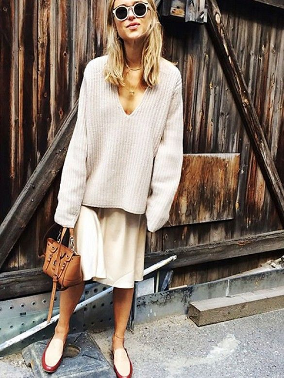 ++ Oversized Knit + Midi Skirt ++