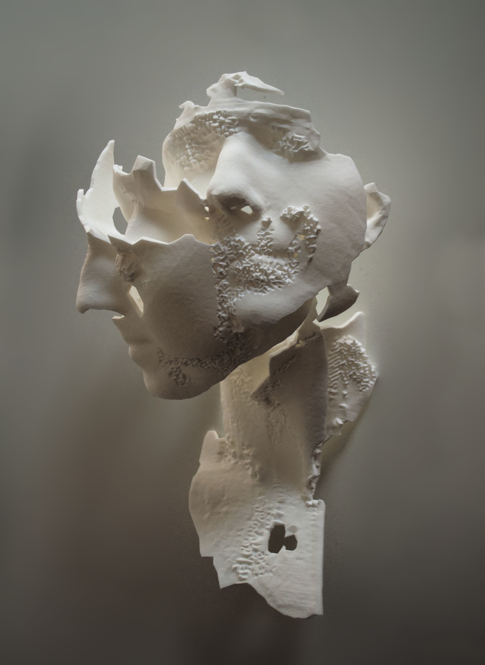 Triple Portrait of E, 2013, 3d print (laser sintered nylon) from 3d laser scan, life size