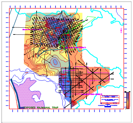 Typical geophysical map made of polygons.
