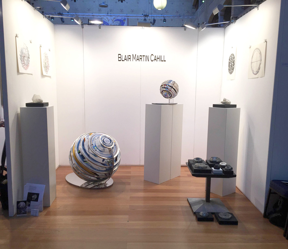 Blair Cahill exhibiting at Amsterdam International Art Fair,  August 28-29, 2015. Image of booth.