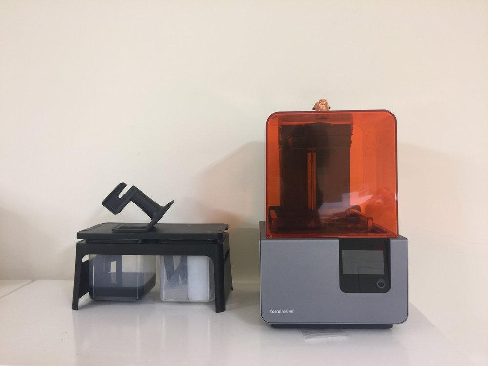 Formlabs keeps developing more approved materials for the Form 2 resin 3D printer. Most recent material is a ceramic resin, Form X a 3D print that can be fired after printing in a ceramic kiln. DFR residents can also print our FDM printer.
