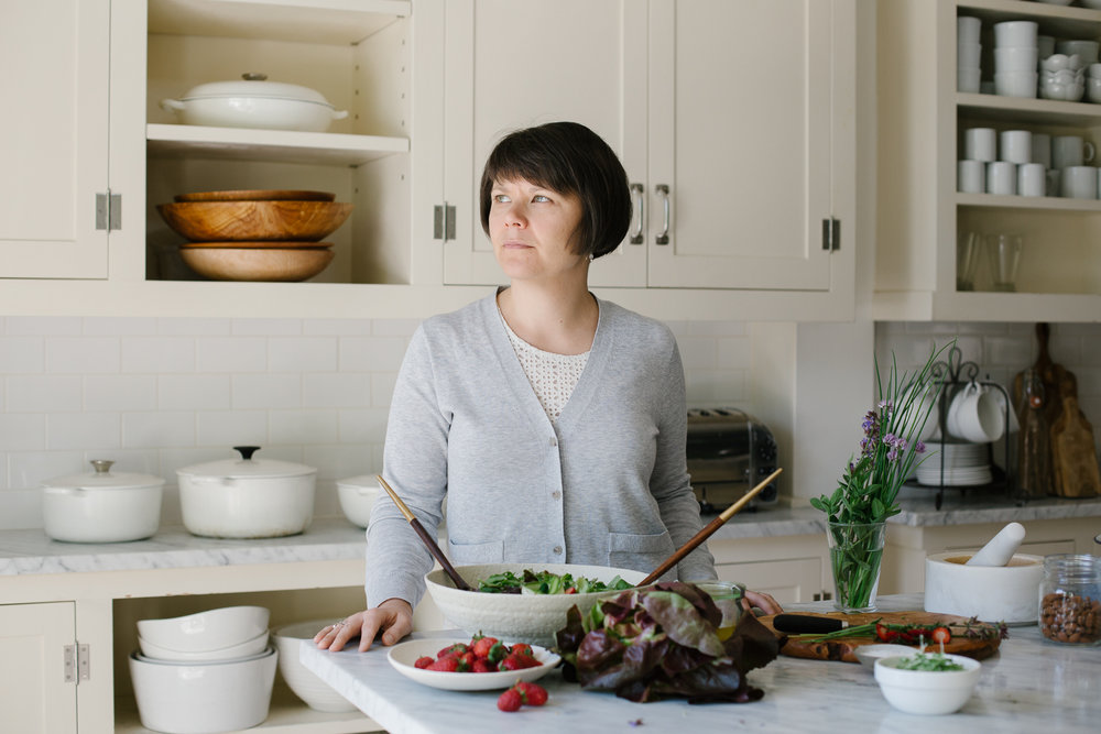 Lifestyle portraits of nutritionist, recipe developer & photographer   Melissa Quantz  .