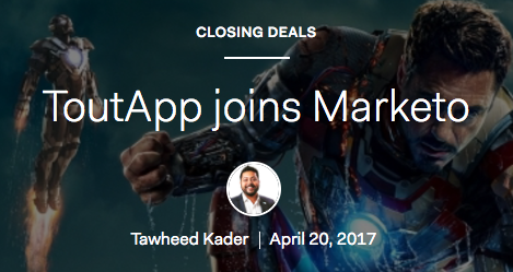 Source: https://www1.toutapp.com/blog/toutapp-joins-marketo/