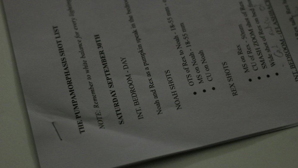 Shot list.