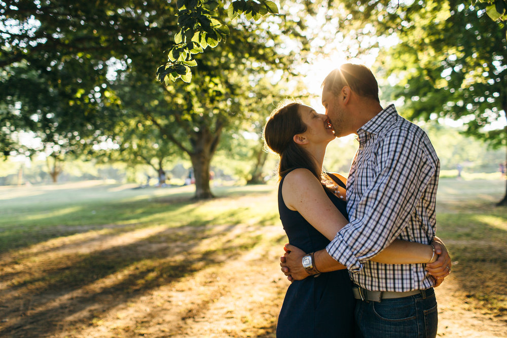 Engagement session with Alexandra + Evan