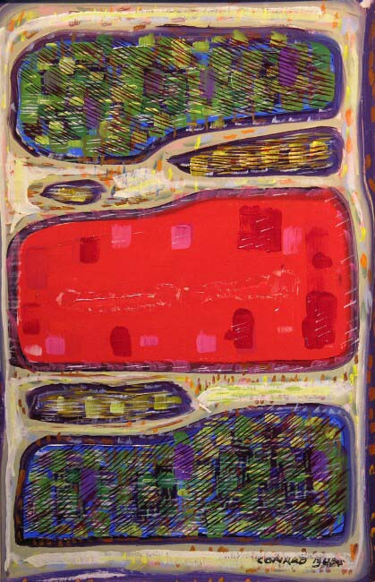 Three Rectangles  / Oil on Board / 16.375 x 10.875 in.