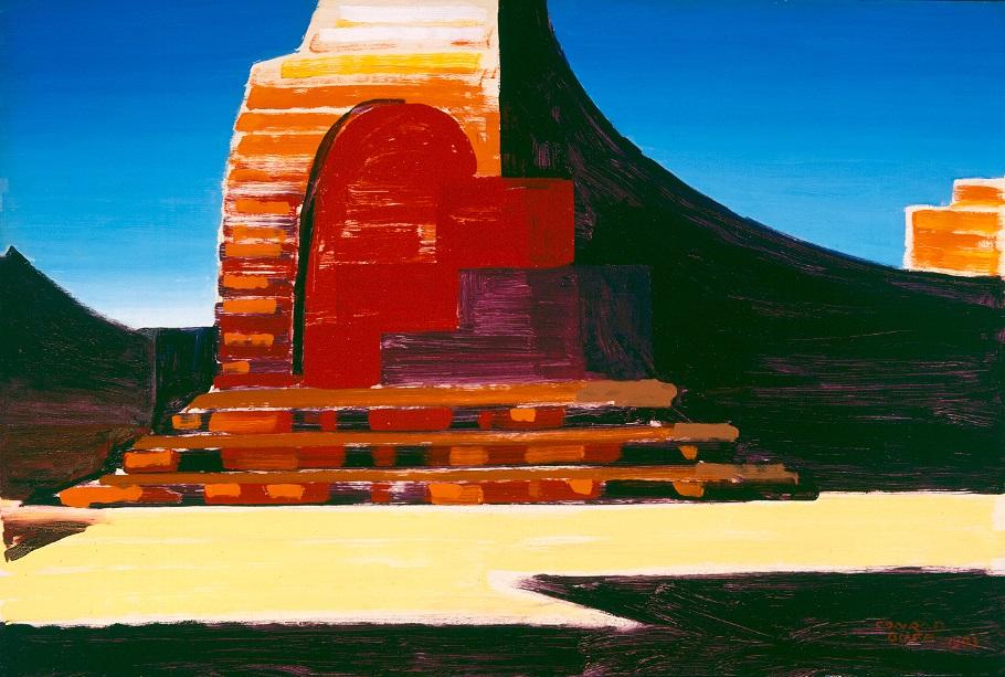 Utah Mesa   / 1963 / Oil on Masonite / 24.125 x 35.875 in.