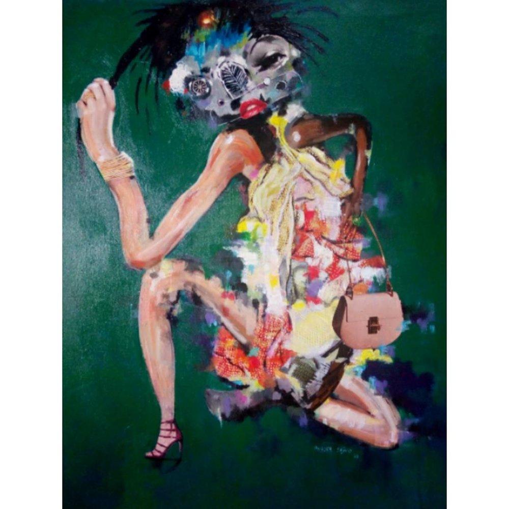 - Arachnidan Woman Series | Mixed Media on Canvas | 30 x 36 inches