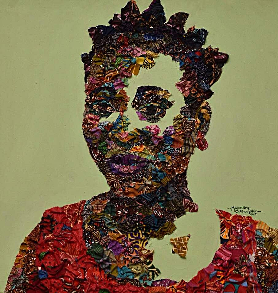 - Omote Agbarha | Mixed Media | 24 x 24 inches