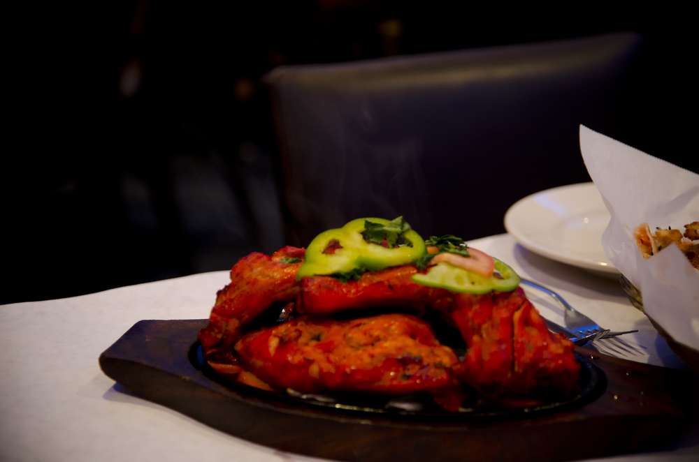 Tandoori Chicken: special served complementary with lunch buffet,