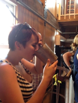 Tasting the yeast formula at Makers Mark while at bourbon camp. It's surprisingly delish!