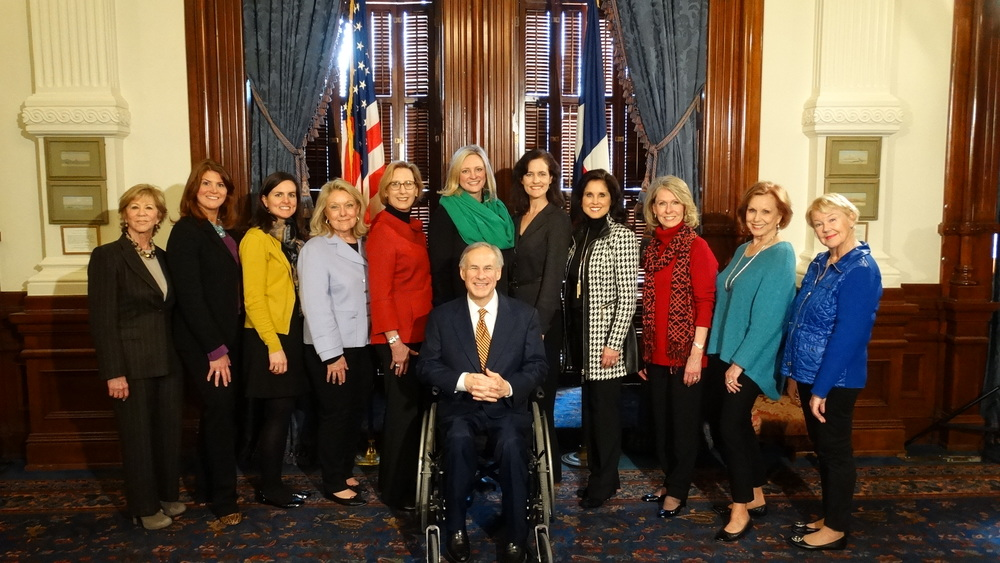 New Friends New Life staff, board members, and supporters met with Governor Greg Abbott in Austin to advocate for laws against human trafficking in Texas.