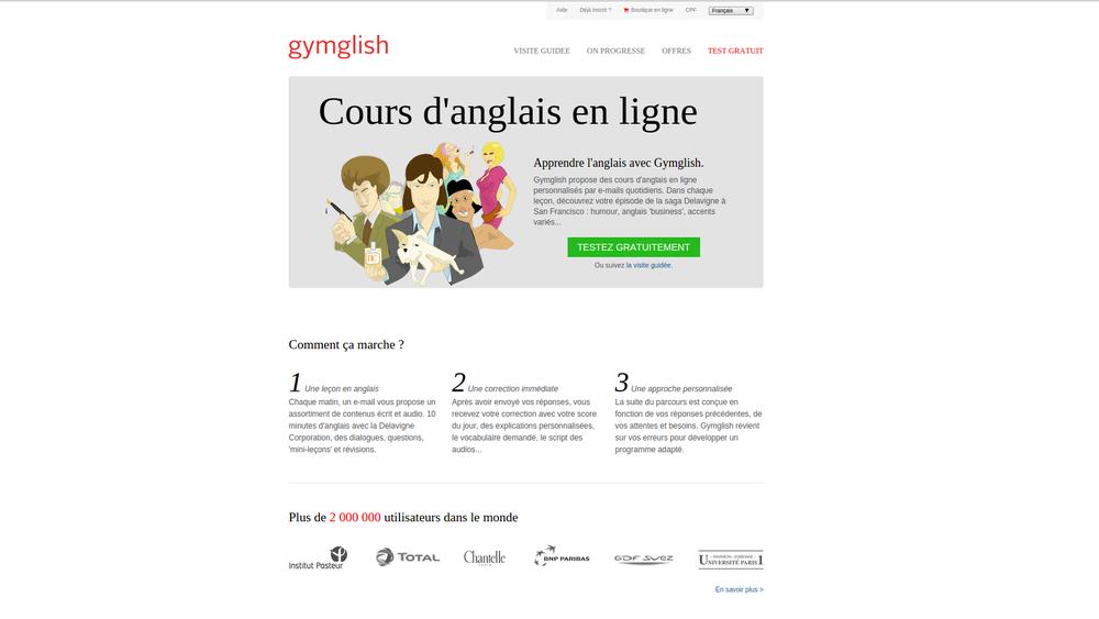 Cours d'anglais Gymglish