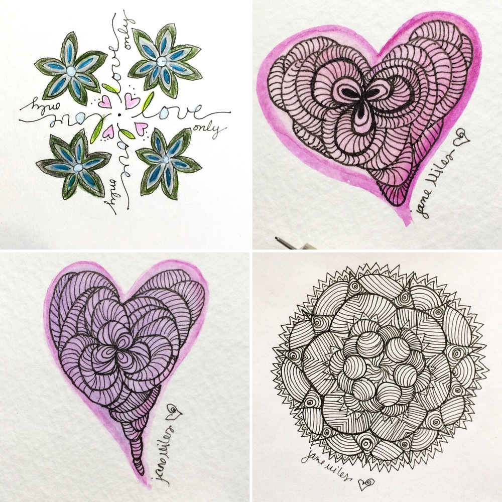 February 2016 Mandalas/Doodles