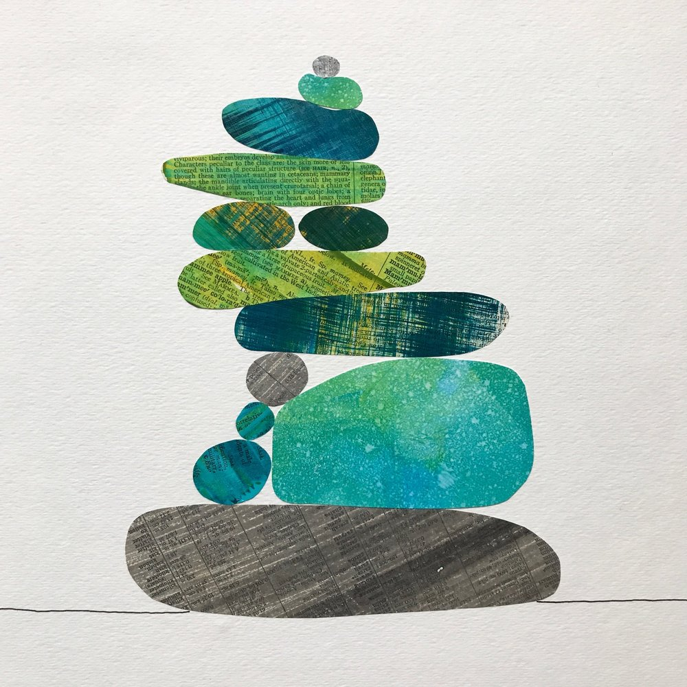 Cairn in Teal