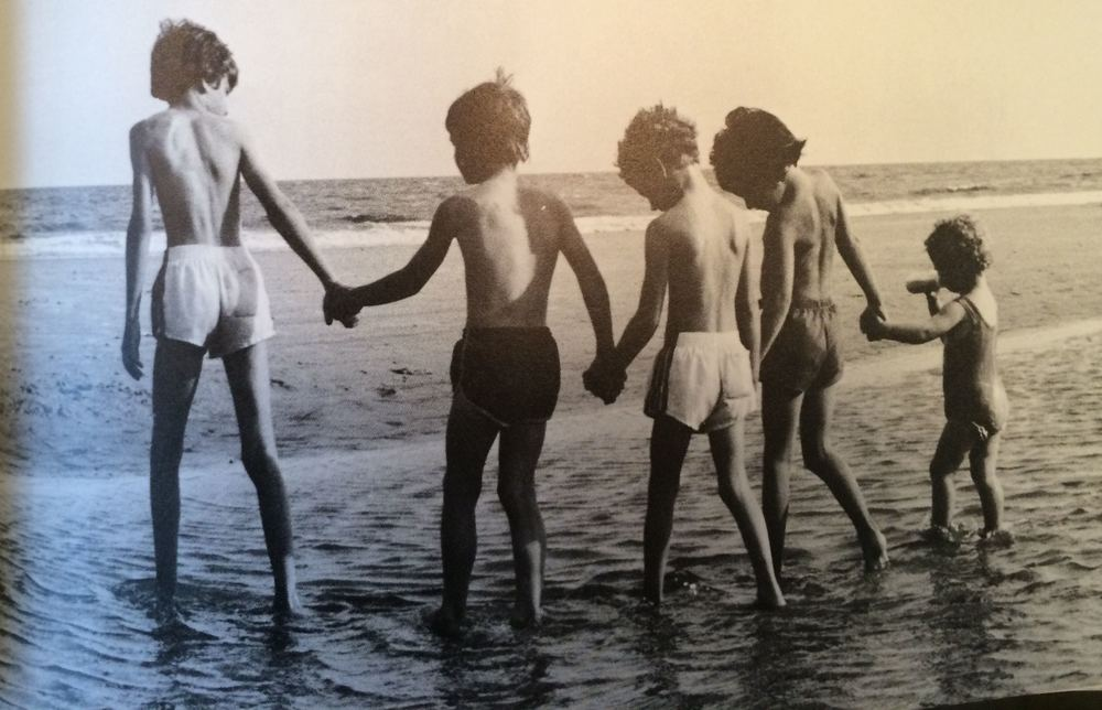 "A photograph of children on the beach from Greer's book ""Hilton Head: A Certain Place"""