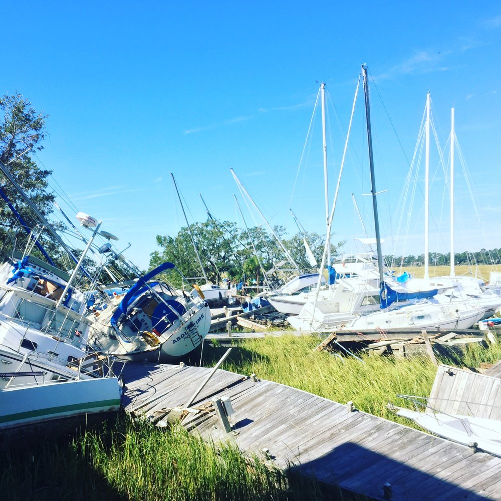Palmetto Bay Marina after Matthew