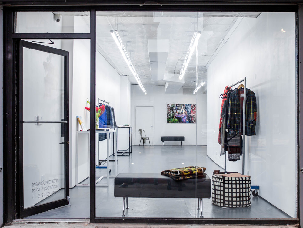 208 Bowery Gallery at Night - pop up retail space