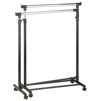 "Black Plastic Rack 1 available 55-66"" tall x 31""wide $30/week Ref: BRA01"