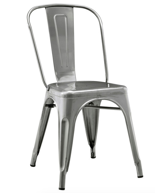 Silver Industrial Chair 8 available 18''W x 33''H x 20''D $25 / week Ref: CHA01