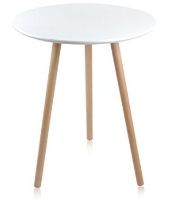 "Small White Round Table 1 available 29.9"" x 23.6"" (diameter) $70/week Ref: TAB03"