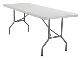 "Plastic Folding Table 4 available 60""x 29"" $45/week Ref: TAB01"