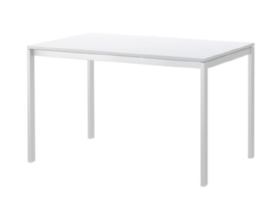 "Large White table 2 available 49"" 1/4 x 29 1/2 "" $75/week Ref: TAB02"