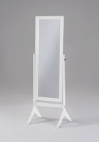 "White Full Length Mirror 1 available 58"" high x 18.5 wide x 18 inch deep $100/week REF: MIR01"
