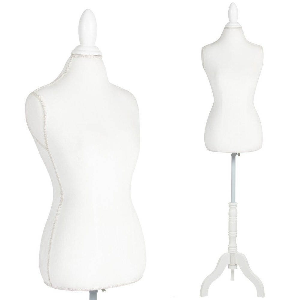 "White Female Mannequin Torso 2 available Material: Foam & Brushed Fabric & Wood Height Without Base: 27.56"" / 70cm Bust: 33.07"" / 84cm Waist: 25.98"" / 66cm Hip: 35.43"" / 90cm 8. Size: 36   $45/week Ref: TOR01"
