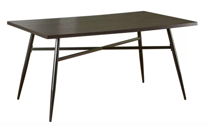 Large Brown Table 1 available 60'' L x 36'' W x 29.75'' H Wood & Metal $150/week Ref:tab04