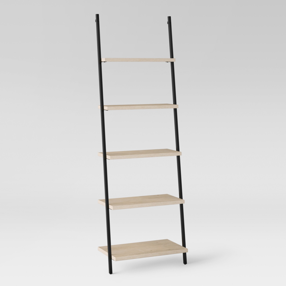 Wooden Leaning Bookcase 2 available 72.0 inches (H) x 24.0 inches (W) x 13.0 inches (D) $80/week Ref: SHE02